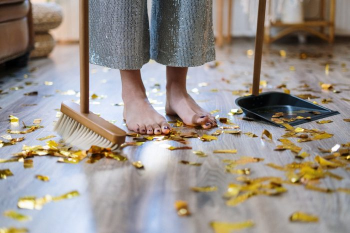 Prepare cleaning tools before your cleaning session!