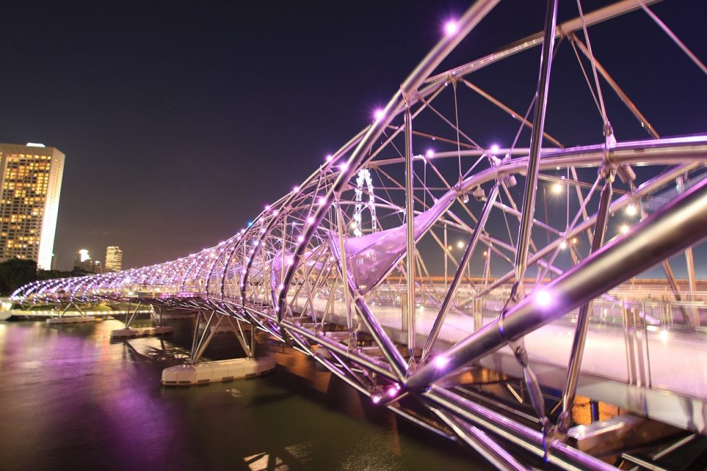 Do you realize why our helix bridge shines so beautifully? Every single small LED light plays its role. No role is too small!
